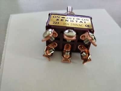 Momentary 20A 125V DPDT 2 Pole Double Throw 6 Terminal On/Off/On Toggle Switch