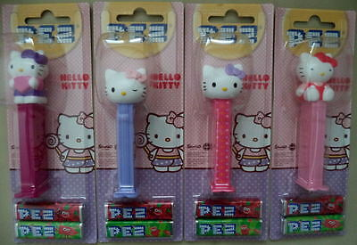 New  2015 Hello Kitty Solid  PEZ  set of 4 MOC