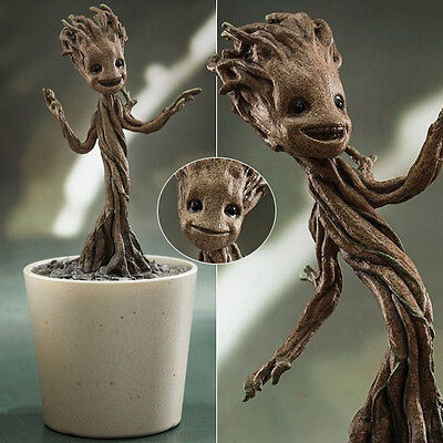 Hot Marvel Guardians of the Galaxy Baby Little Groot 1/4 PVC Figure Figurine Box