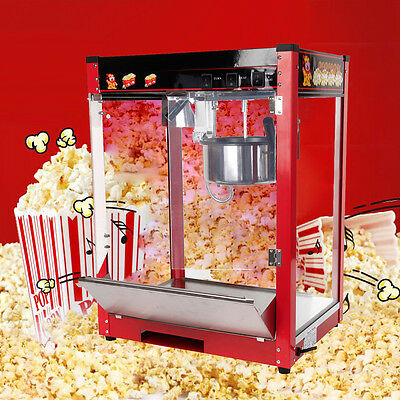 Electric Popcorn Maker Tabletop Machine Pop Corn Cooker 8Oz  Party Snack EU Plug