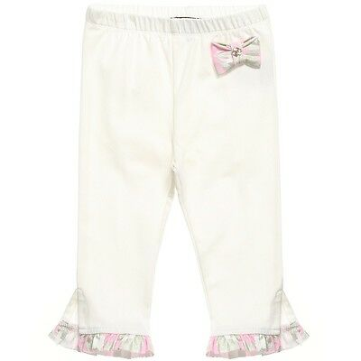 Roberto Cavalli Baby Ivory Bow Leggings 18 Months