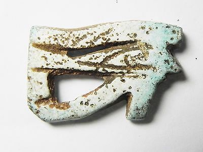 Zurqieh -Ata9- Ancient Egypt , Large Faience Eye Of Horus. 1075 - 600 B.c