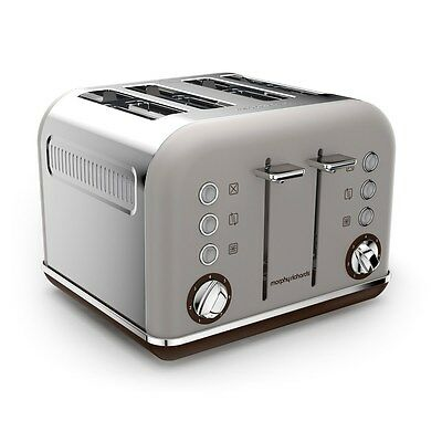 New Morphy Richards 242102 Special Edition Accents Pebble 4 Slice Toaster