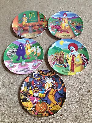 MacDonalds Plates Set of 5/ Halloween Plate