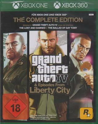 XBOX 360 und ONE GRAND THEFT AUTO 4 IV GTA 4 COMPLETE NEU