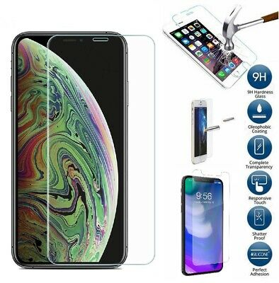 """Retail Package Tempered Glass Screen Protector for iPhone Xs Max 6.5"""" / X LOT"""