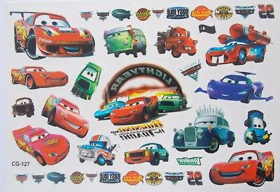 Disney Cars / Vehicles McQueen  Pixar Cartoon Temporary Tattoo Children's CG-127