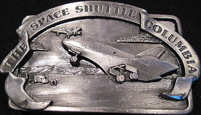 Vintage NASA 1982 Space Shuttle Columbia Solid Limited Brass Belt Buckle