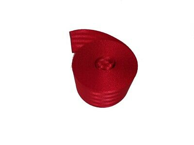 50MM Polyester Webbing 5 Metre Red