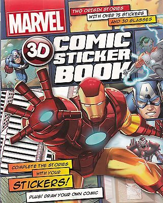 Marvel 3D Comic Sticker Activity Book - New