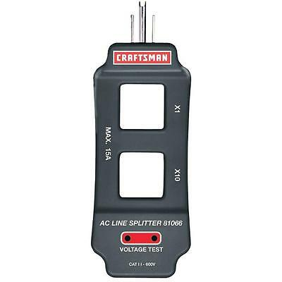 New Craftsman AC Line Splitter 120V Dual Range x1 x10 15Amp Voltage Clamp Meter