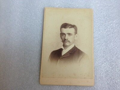Antique photo of a young man by Bundy & Filley, New Haven, Conn.