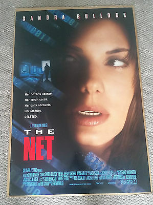 The Net (1995) Original Movie Poster 27x40 Sandra Bullock Double Sided