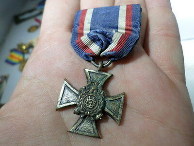 Sons Of Veterans Medal Badge w Iron Cross and Ribbon
