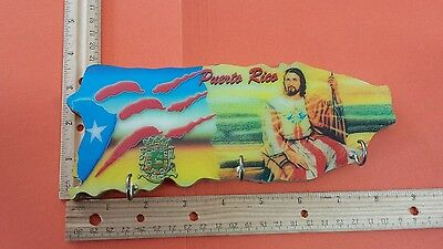Puerto Rico Wooden Keychain Wall Holder