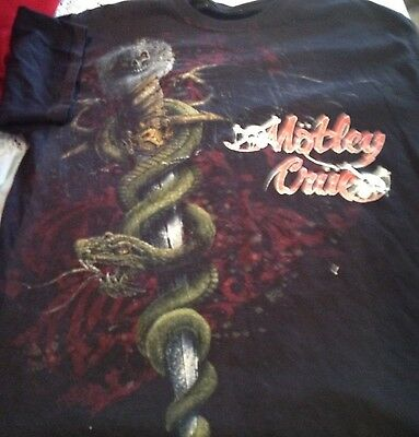 Motley Crue Vntg Dragon Tilt Black tshirt SS size Mens Medium