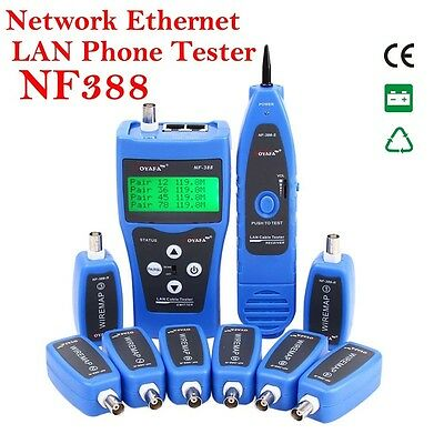 NF388 Network Ethernet LAN Phone Tester wire Tracker USB coaxial Cable 8 Far-end