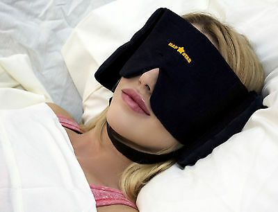 Sleep Mask - Nap Star Sound-Reducing Mask & Pillow - with Chin Strap (Patented)