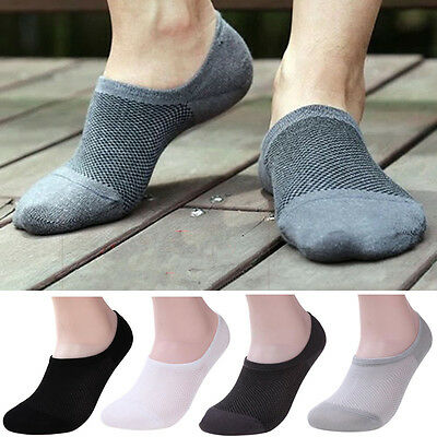 1 Pair Men/Women Bamboo Ankle Invisible Loafer Boat Liner Low Cut No Show Socks