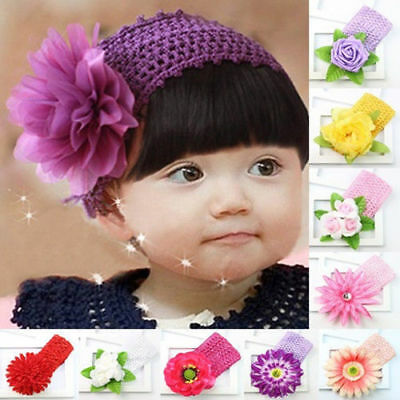 Kids Baby Girl Headband Toddler Lace Bow Flower Headwear Hair Band Accessories