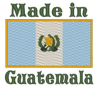 Made In Guatemala Guatemala Flag Embroidered Baby Bodysuit