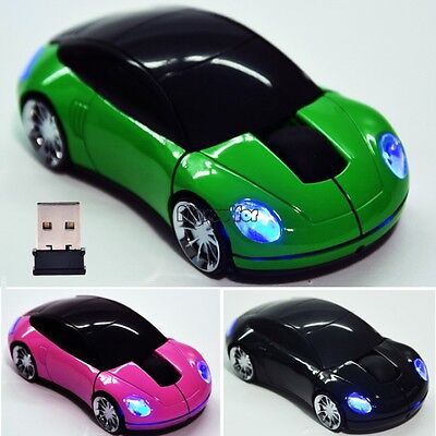 2.4G 3D 1800CPI PC USB Receiver Optical Mouse Mice For Laptop Car Shaped MSF