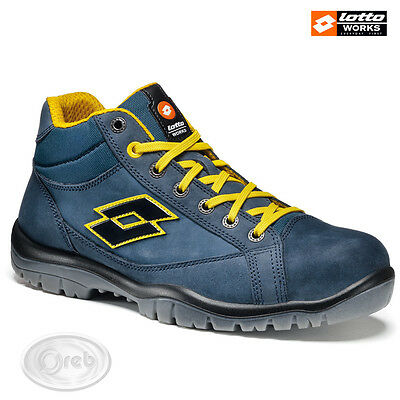 Safety Shoes Lotto Works Jump 900Mid R7014 S3 Src High Waterproof