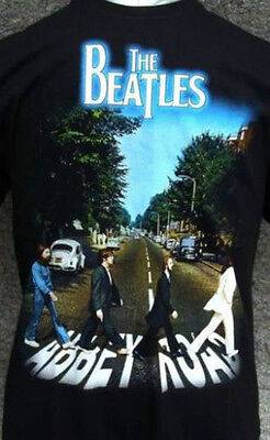 The Beatles - Abby Road  - Rock Band Round Neck T-Shirts 100% Cotton