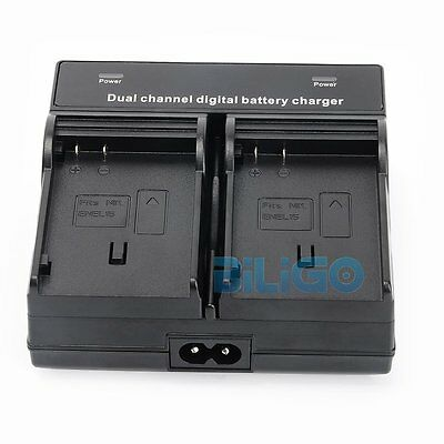 Dual Slot Channel EN-EL15 Battery Charger Quick Charge For Nikon Camera +AU Cord