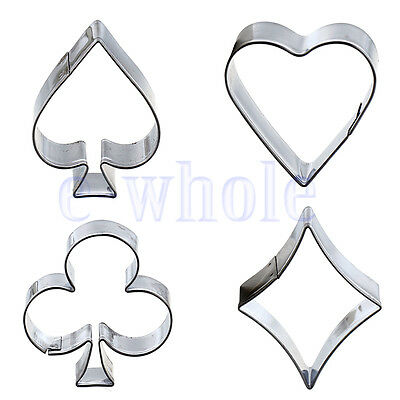 Poker Cookies Cutter Steel Mould Cake Biscuit Pastry Baking Mold Sugarcraft K6