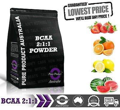 500G PURE BCAA 2:1:1 INSTANTISED POWDER Strawberry flavour