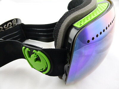 Dragon APX Frameless Snow Goggles Jet - Green Ion + Yellow Blue Ion Lens