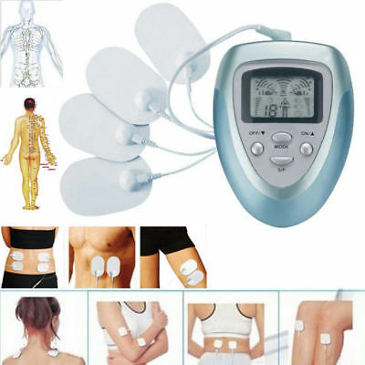 UK 4Pads Tens Digital Therapy Massager Machine Body Pain Relief Acupuncture Back