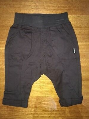 Baby BONDS POP pocket cargo pants charcoal BNWT RRP $34.95 Size 00