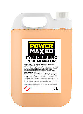 Power Maxed Show Shine Tyre Dressing & Renovator 5 Litre