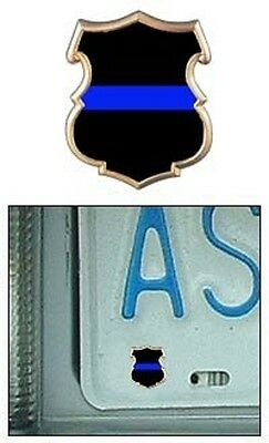 Thin Blue Line Shield Reflective Mini Decal