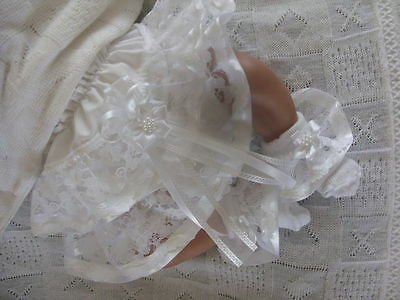 Dream Baby White Star Knickers And Socks Set All Sizes Available Or Reborn