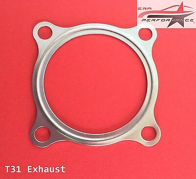 "2.5"" Inch T31 Turbocharger Exhaust Gasket 4-Bolt Turbine Outlet Downpipe T3 T34"
