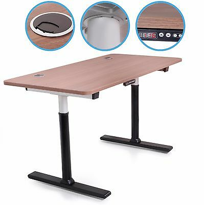 NEW 230v ELECTRIC LARGE HEIGHT ADJUSTABLE HOME OFFICE SIT STAND COMPUTER PC DESK