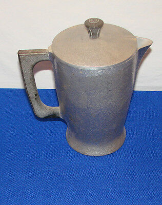 vintage CLUB cookware ALUMINUM Hammered PITCHER with LID -- tea pot