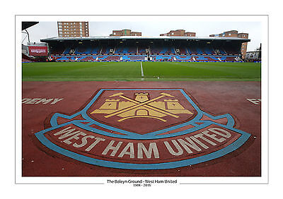 Last Ever Game Stadium Photo Boleyn Ground Upton Park A4 Print Photo West Ham