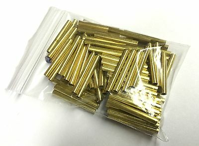 "100 Pcs Brass Tubing 1.25"" Long, 5/32"" OD, 1/8"" ID, 1/64"" Wall For Player Piano"