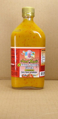 340gr Bajan Hot Pepper Sauce/Pfeffersosse Aunt May von der Sonneninsel Barbados