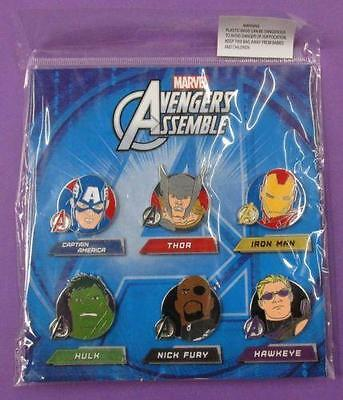 Disney Marvel Avengers Assemble Booster Complete set of 6 Pins - New / Sealed