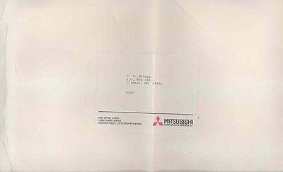 1984 Mitsubishi USA ORIGINAL EMPTY Factory Mailing Envelope ww0523