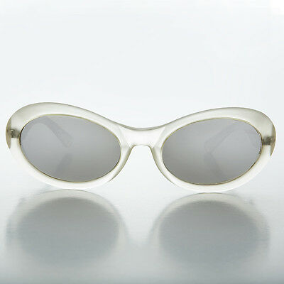 90s Wide Curve Oval Lens Sunglass NOS Frost -LANIE