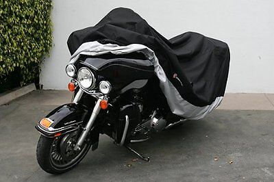 """High Quality Heavy Duty Motorcycle cover XXL with cable & lock. Fits up to 108"""""""