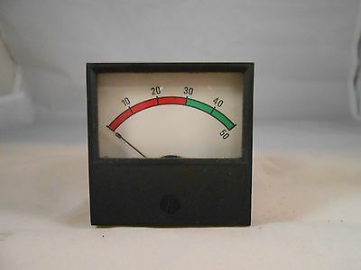 """11512 Simpson  0-50Dc Ammeter  2 1/4"""" Square  New Old Stock"""