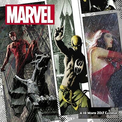 Marvel Knights Daredevil Punisher Marvel Comics 2017 Wall Calendar New 16 Months