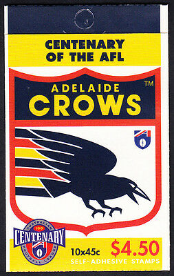 Australia 1996 Centenary of AFL Footy Booklet  10 Stamps Adelaide Crows